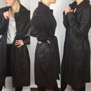 Philosophy Alberta Ferretti Leather Trench Coat